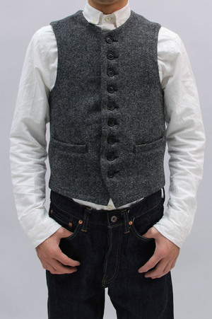 Gold Harris Tweed CREW NECK VEST (GL12612)