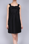 Front gather black dress (MA34FA025)