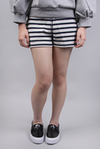 STRIPED FRENCH TERRY SWEATSHORTS(401800P14)