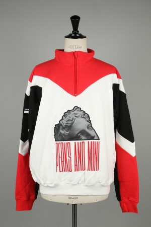 P.A.M. MINDSNARES ZIP NECK SWEAT / RED(3548)