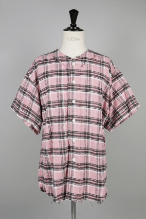 YSTRDY'S TMRRW PLAID PLAY BALL SHIRT - PINK (YT-S0202)