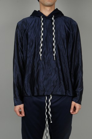 YSTRDY'S TMRRW HOODED GYMASIUM TOP - NAVY (YT-C0201)