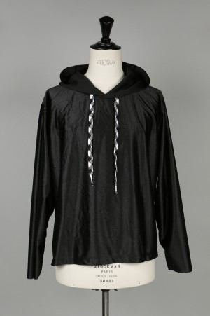 YSTRDY'S TMRRW HOODED GYMASIUM TOP - BLACK (YT-C0201)