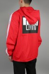 BREAK TAPE HOOD JACKET RED(18EL-SS-08)