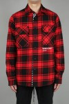 Off-White QUOTE FLANNEL SHIRT/RED (OMGA060E18A270102001)