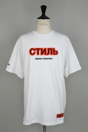 Heron Preston SATIN CTNMB SS T-SHIRT /WHITE(HMAA001F186320130119)