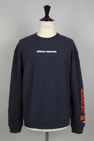 Heron Preston SATIN CTNMB CREW SWEATSHIRT /DARK BLUE(HMBA002F186030133219)