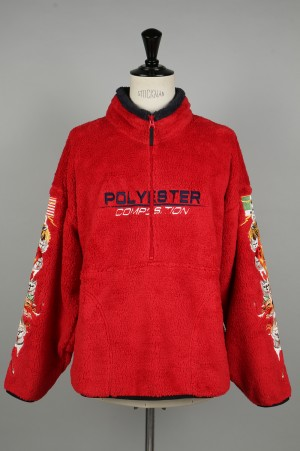 doublet POLYESTER FLEECE HALF-ZIP PULLOVER -RED- (18AW23SH54)