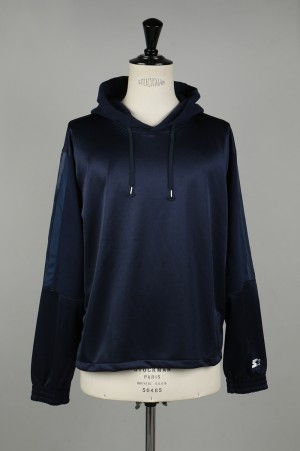 YSTRDY'S TMRRW HOODED TRACK TOP by STARTER - NAVY (YT-C0320)