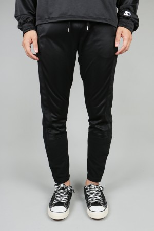 YSTRDY'S TMRRW TAPERED LEG TRACK PANTS - BLACK (YT-P0315)