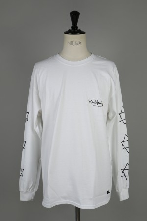 Mark Gonzales LONG TEE - WHITE (MG18W-LT04)
