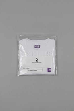 The North Face Purple Label -Men- COOLMAX(R)Pack Tee - WHITE (NT3515N)