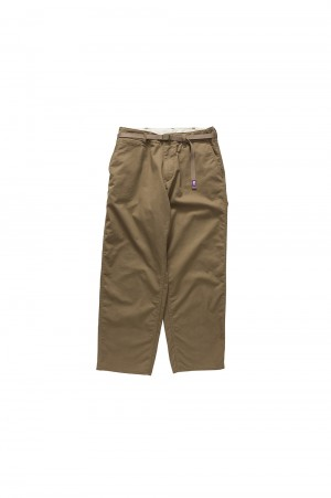 The North Face Purple Label -Men- Stretch Twill Wide Pants - BRONZE (NT5855N)