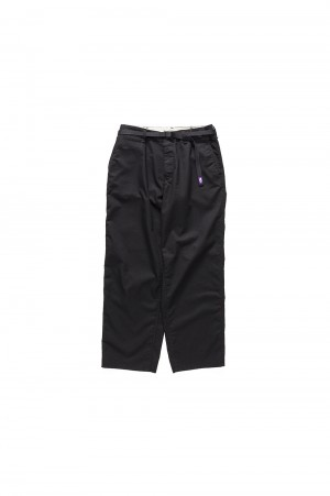 The North Face Purple Label -Men- Stretch Twill Wide Pants - BLACK (NT5855N)