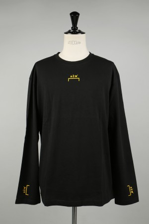 A-Cold-Wall ACW BRACKET LOGO LONGSLEEVE / BLACK