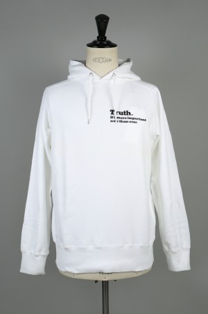 sacai -Men- The New York Times Truth HOODIE -WHITE- (18-01783M)