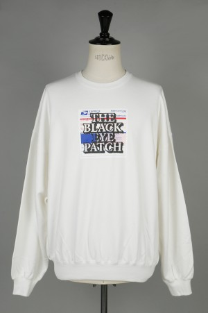 Black Eye Patch LABEL CREWNECK/WHITE