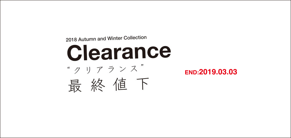 2018 Autumn and Winter Collection Clearance