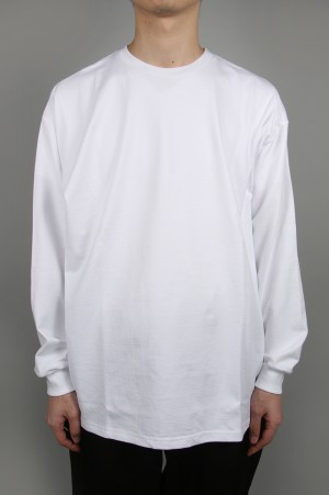 Graphpaper - Men - L/S Oversized Tee - WHITE (GU201-70205B)