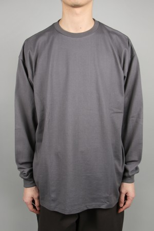 Graphpaper - Men - L/S Oversized Tee - GRAY (GU201-70205B)