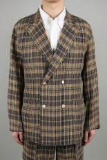 Kaptain Sunshine Riviera Jacket - NAVY KHAKI PLAID (KS20SJK05)