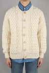 4a Golfer Cardigan - NATURAL / 42