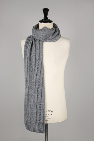 INVERALLAN Scarf Cable - GREY MIX