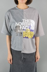 The North Face Purple Label -Women- Crazy H/S Logo Tee-MIX GRAY × GRAY(NT3009N)