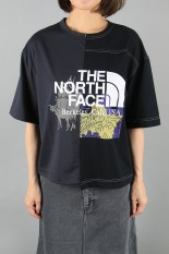 The North Face Purple Label -Women- Crazy H/S Logo Tee-CHARCOAL × BLACK(NT3009N)