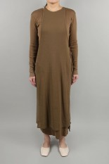 Todayful Cottonrib Layered Dress-BROWN(  12010317 )