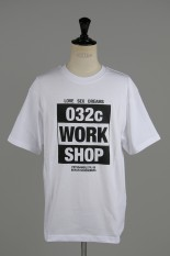 032c T-SHIRT WITH CHEST PRINT / WHITE(LSD044TP002)