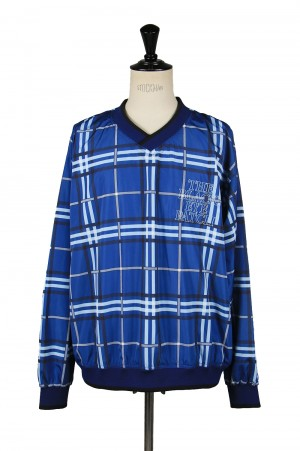 Black Eye Patch CHECKED V NECK JERSEY/Blue(BEPSS20TP03)