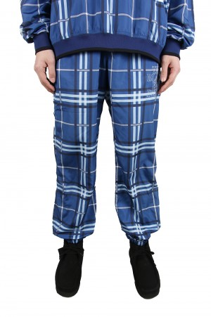 Black Eye Patch CHECKED JERSEY PANTS/Blue(BEPSS20PA04)