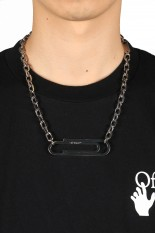 Off-White XL PAPERCLIP NECKLACE METAL NO COLOR(OMOB068F20MET0017800)