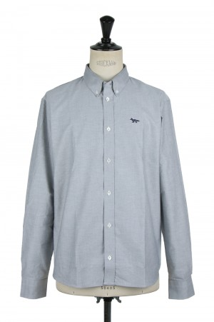 Maison Kitsune -Men- FOX EMBROIDERY CLASSIC SHIRT BD (FM00402WC2010/KMH40500)