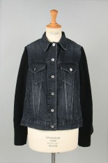 sacai -Women- Denim Mix Blouson -Black (20-05153)