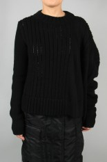 sacai -Women- Wool Knit Pullover -Black (20-05237)