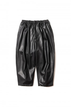 Magic Stick LEATHER WIDE CROPPED TROUSERS(20FW-MS9-022)