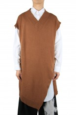 Ground Y Slash Sleeveless Knit Vest/BROWN(GR-K03-014)