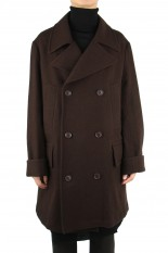 Ground Y Big Pea Coat/BROWN(GR-C01-101)