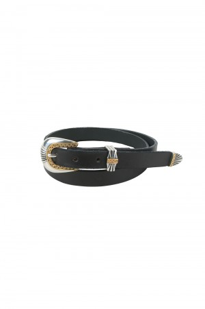 Import - Men - MOONSHINE / LEATHER PLAIN BELT  - DEL RIO BUCKLE  (700082229)