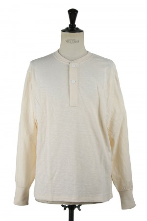 Healthknit #51001 MAX WEIGHT SLAB JERSEY HENLEY L/S - NATURAL (700084702)