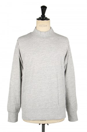 Healthknit #51003 MAX WEIGHT SLAB JERSEY MOCKNECK L/S - GREY (700084704)