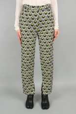 Todayful Jacquard Slit Trousers -G/YELLOW (12020706)