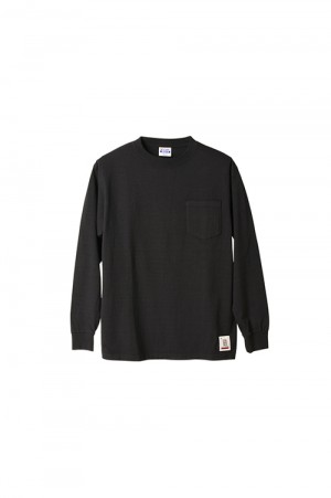 Standard California SD HEAVYWEIGHT POCKET LS-T - BLACK