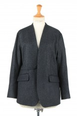 pelleq collarless jacket -deep night (JK0504-AW20)