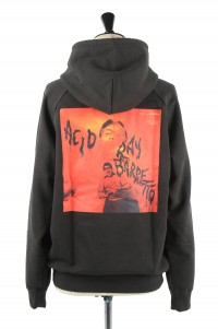 Wackomaria FANIA / WASHED HEAVY WEIGHT PULLOVER HOODED SWEAT SHIRT ( TYPE-4 ) / BLACK (FANIA-WM-SS05)