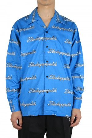 Black Eye Patch WHIP EMBLEM L/S SHIRT/BLUE(BEPFW20TP01)