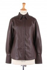 Todayful Ecoleather Slim Shirts -DARK BROWN (12020417)