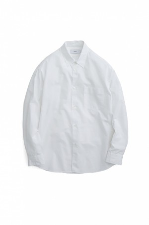 Graphpaper Broad L/S Regular Collar Shirt - WHITE (GM203-50108B)